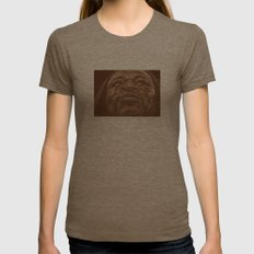 round 9.. shane mosley Womens Fitted Tee Tri-Coffee SMALL