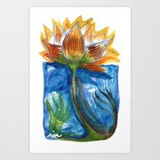 Wild Lotus Art Print