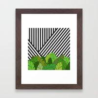 Green Direction Framed Art Print