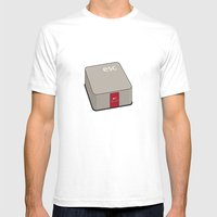 Escape Key Mens Fitted Tee White SMALL