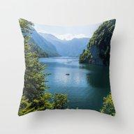 Germany, Malerblick, Koe… Throw Pillow