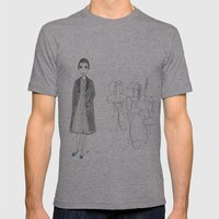 Cafe Girl Mens Fitted Tee Athletic Grey SMALL