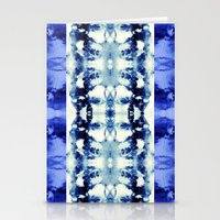Tie Dye Blues Stationery Cards