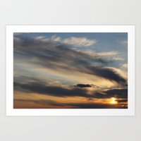 Sunset Over Lake Michigan Art Print