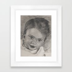 looking forward to life Framed Art Print
