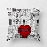 Buffalo Love Black White… Throw Pillow