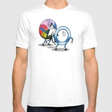 System bullies Mens Fitted Tee White SMALL