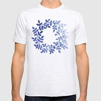 Delicate Watercolor Patt… Mens Fitted Tee Ash Grey SMALL