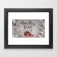 I Love This Game Framed Art Print