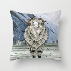 One Sheep Throw Pillow
