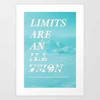 Limits are an Illusion Art Print