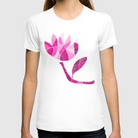 Fractured Flower Womens Fitted Tee White SMALL