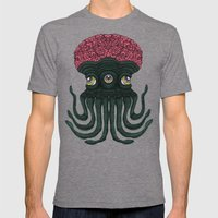Octopus Brains Mens Fitted Tee Tri-Grey SMALL