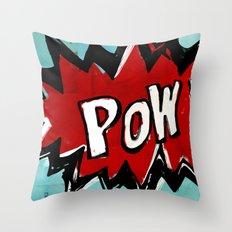 Comic Book: Pow! Throw Pillow