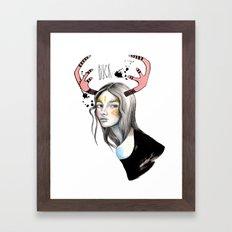 Buck (isolated) Framed Art Print