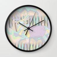 Deer Forest Wall Clock