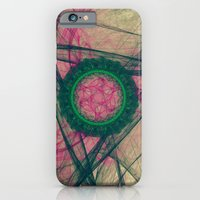 iPhone & iPod Case featuring Medallion Nebula Abstract Fractal Energy Pattern by Virtualkee