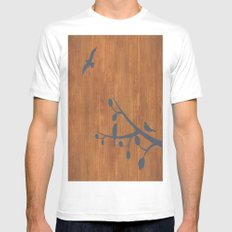 free as a bird Mens Fitted Tee SMALL White