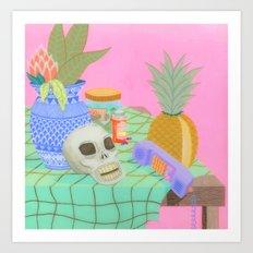Still Life With Pineapple Art Print