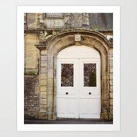 White Door Art Print
