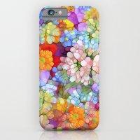 Rainbow Flower Shower iPhone 6 Slim Case
