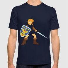 Link - The Legend of Zelda - Minimalist - Nintendo Mens Fitted Tee SMALL Navy