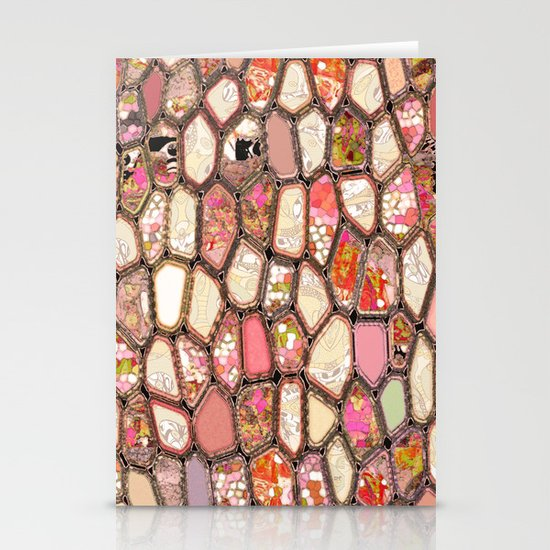 Cells in Pink Stationery Card