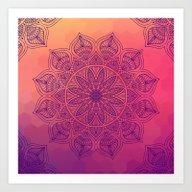 Art Print featuring Happy Mandala by Mantra Mandala