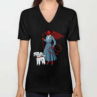Devil With A Blue Dress On Unisex V-Neck