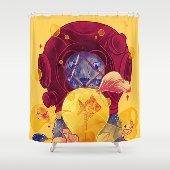 La Lumiere (Yellow) Shower Curtain