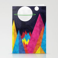 Space Night Stationery Cards