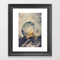 Framed Art Print featuring One Mountain At A Time by HappyMelvin
