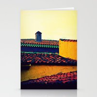 Red Tile Roof Stationery Cards