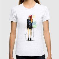 Flamboyante ! Womens Fitted Tee Ash Grey SMALL