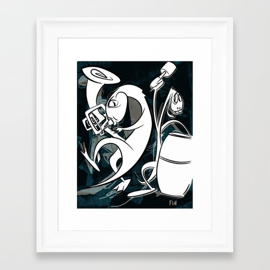 Music with Dinosaurs Framed Art Print