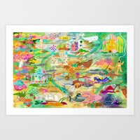 20,000 Leagues Art Print