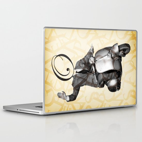 Mr O on his vespa Laptop & iPad Skin