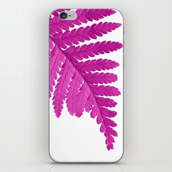 pink fern leaf I iPhone & iPod Skin