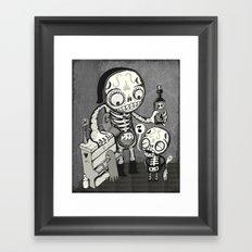 Skulls Night Out Framed Art Print