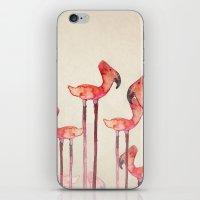 transmogrified flamingo colony iPhone & iPod Skin