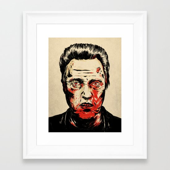 Walken Dead Framed Art Print