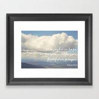 Be Joyful In Hope, Patie… Framed Art Print