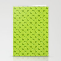 Dogs-Green Stationery Cards