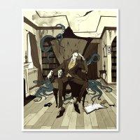 H.P. Lovecraft Canvas Print