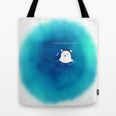 i want to leave to travel... Tote Bag