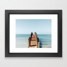 Florida Pier Framed Art Print