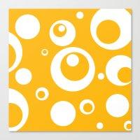 Circles Dots Bubbles :: Mango Canvas Print
