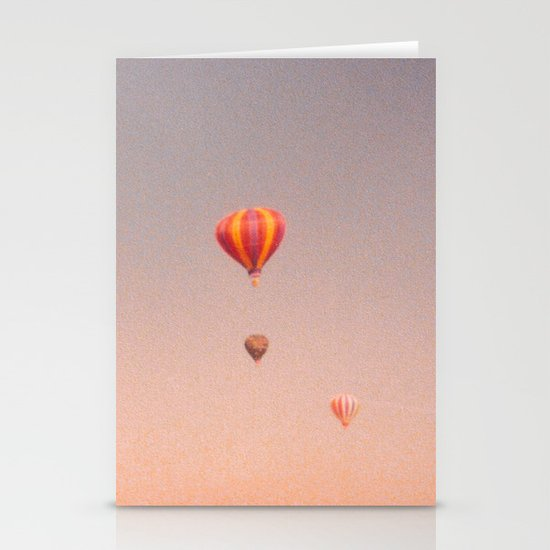 vintage hot air balloons in rio Stationery Card
