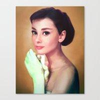 Oh, Audrey!  Canvas Print