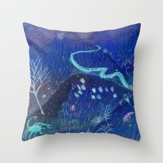 night dangers Throw Pillow